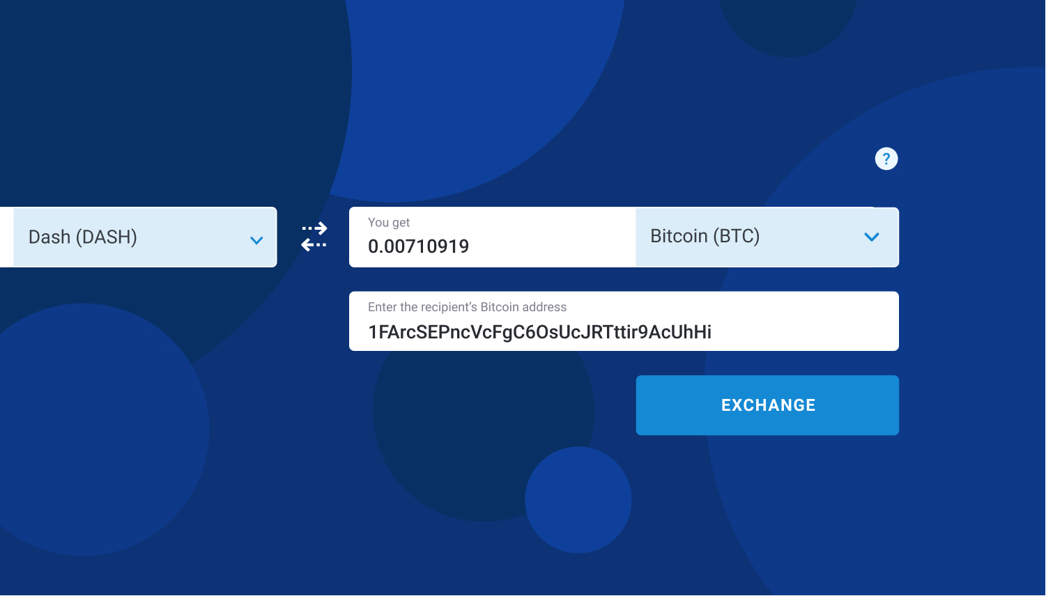 enter the recipient's Bitcoin address