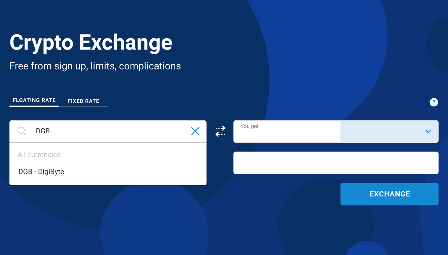how to exchange dgb to kmd